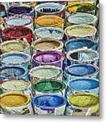 Paint Cans Metal Print