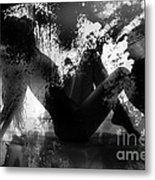 Paint Over Nude Silhouette Metal Print