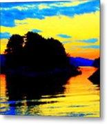 Painting The High Sky And The Deep Sea  Metal Print