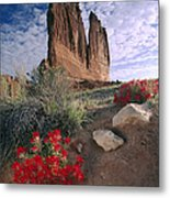 Paintbrush And  Organ Rock Metal Print