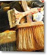 Paintbrushes Metal Print by Mamie Gunning