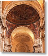 Painted Ceiling Inside The Cathedral At Metal Print