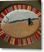 Painted Dish Metal Print