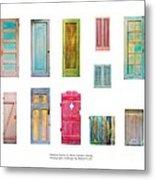 Painted Doors And Window Panes Metal Print