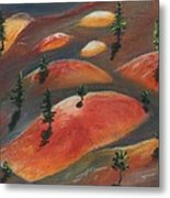 Painted Dunes Metal Print