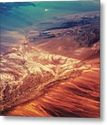 Painted Earth Metal Print