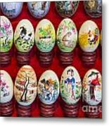 Painted Eggs In China Market Metal Print