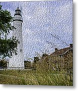Painted Fort Gratiot Light House Metal Print