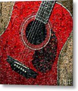 Painted Guitar - Music - Red Metal Print