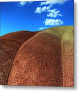 Painted Hills Blue Sky 2 Metal Print