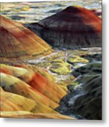 Painted Hills, Sunset, John Day Fossil Metal Print