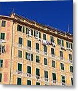 painted homes in Camogli Metal Print