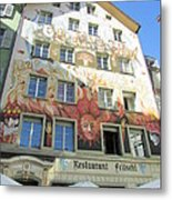 Painted House Fritschi Metal Print