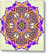 Painted Lotus Xiv Metal Print