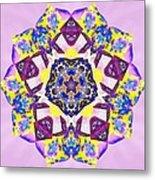 Painted Lotus Xvi Metal Print