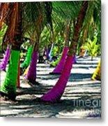 Painted Palms Metal Print