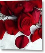 Painted Petals Metal Print