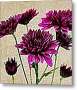 Painted Pink Bouquet Metal Print