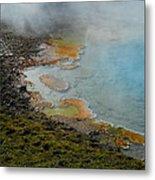 Painted Pool Of Yellowstone Metal Print