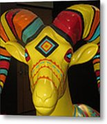 Painted Ram Metal Print
