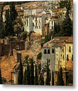 Painted Ronda. Spain Metal Print by Jenny Rainbow
