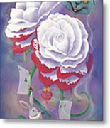 Painted Roses For Wonderland's Heartless Queen Metal Print