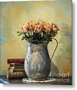 Painted Roses Metal Print by Terry Rowe