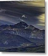 Painted Sky Over Longs Peak Metal Print by Tom Wilbert