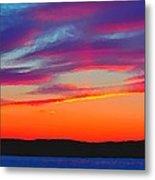 Painted Sunset Metal Print