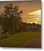 Painted Sunset Metal Print