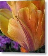 Painted Tulip Metal Print