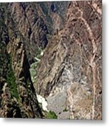 Painted Wall Black Canyon Of The Gunnison Metal Print