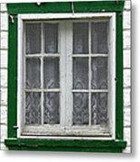 Painted Window Metal Print