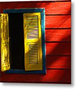 Painted Window - Mike Hope Metal Print