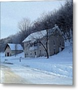 Painted Winter Metal Print