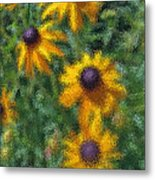 Painterly Flowers Metal Print