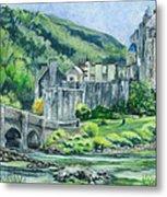 Eilean Donan Medieval Castle Scotland Metal Print