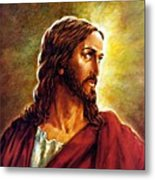 Painting Of Christ Metal Print by John Lautermilch