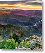 Painting Of Desert View Grand Canyon Metal Print