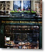 Can You See The Ghost In The Top Window At The Old Original Bakewell Pudding Shop Metal Print