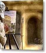 Painting The Colosseum Metal Print by Stefano Senise