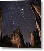 Painting The Needles Under The Geminids Meteor Shower Metal Print by Mike Berenson