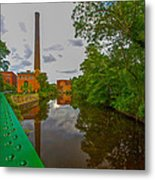Painting The River Metal Print