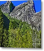 Painting Three Brothers Peaks Yosemite Np Metal Print