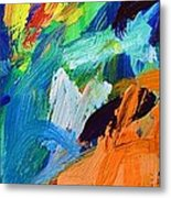 And God Said Let There Be Light - Genesis1 3 - Blue Abstract Expressionist Painting Metal Print