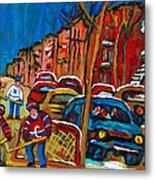 Paintings Of Montreal Hockey City Scenes Metal Print