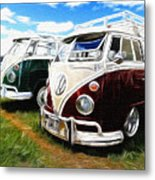 Pair Of Busses Metal Print