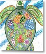 Paisley Sea Turtle Metal Print