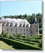 Palace And Garden Bussy Rabutin - Burgundy Metal Print