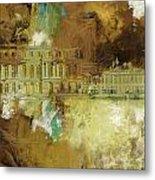 Palace And Park Of Versailles Metal Print